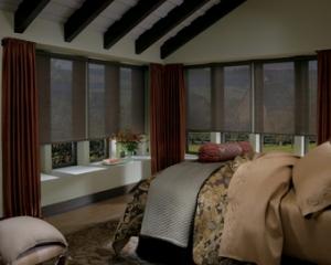 designer roller screen bedroom