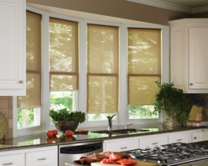 designer roller screen kitchen