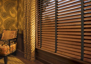 Gold Drapery wood blind